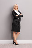 Full length portrait of a young businesswoman Royalty Free Stock Photo
