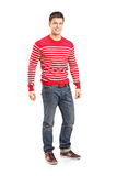 Full length portrait of a young casual man Stock Photography