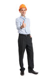 Full length portrait of young engineer Stock Image
