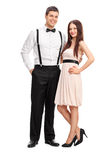 Full length portrait of a young fashionable couple Stock Images