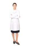 Full length portrait of young female doctor Stock Photos