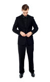 Full length portrait of young gentleman Royalty Free Stock Photos