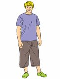 Full length portrait of young guy Stock Image