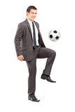 Full length portrait of a young handsome businessman  Stock Photo