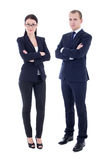 Full length portrait of young handsome man and beautiful woman i Stock Photography
