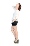 Full length portrait of young happy woman Royalty Free Stock Photos