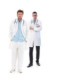 Full length portrait of young male doctors Royalty Free Stock Photo