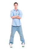 Full-length portrait of young man Stock Photos