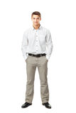Full length portrait of young man Stock Photos