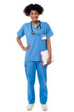 Full length portrait of young medical professional Stock Image