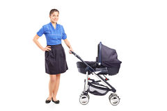 Full length portrait of a young mother Stock Image