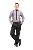 Full length portrait of a young stylish male posing Royalty Free Stock Photography
