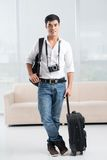 Handsome traveler Stock Image