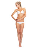 Full length portrait of young woman in lingerie Stock Photography