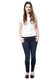 Full length portrait of young woman Royalty Free Stock Photo