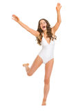Full length portrait of young woman in swimsuit Stock Photo