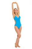 Full length portrait of young woman in swimsuit Stock Images