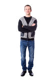 Full length portrat of handsome middle aged man isolated on whit Royalty Free Stock Photo