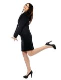Full length pose of happy businesswoman Stock Image
