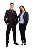 Full length pose of happy young business partners Royalty Free Stock Photo