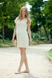 Full length of pregnant woman Royalty Free Stock Images