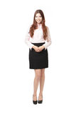 Full length of pretty business woman Royalty Free Stock Photo