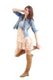 Full length of a pretty young girl Stock Photography