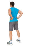 Full length rear view of a fit young man Stock Photography
