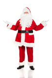 Full length Santa Claus showing a copyspace Stock Image