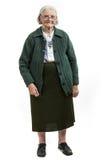 Full length of senior woman over white Stock Image