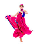 Full length of  cabaret woman in retro dress Royalty Free Stock Image