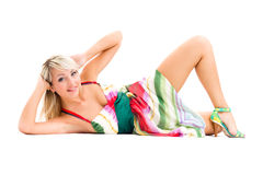 Sensual woman wearing summer dress Stock Photography