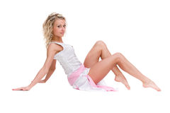 Full length of woman in little dress Royalty Free Stock Images