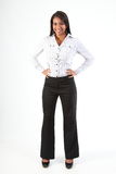 Full length shot of beautiful young business woman Stock Photography