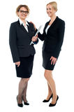 Full length shot of corporate female friends Stock Photo