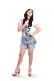 Full length shot of fashionable girl posing Royalty Free Stock Photography