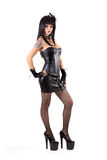 Full length shot of gothic woman in sexy outfit Stock Photos