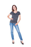Full length shot of pleased young woman Stock Photography