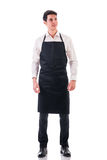 Full length shot of young chef or waiter posing Stock Photos