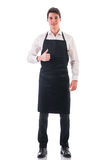 Full length shot of young chef or waiter posing Royalty Free Stock Image