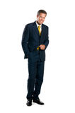 Full length smiling businessman Stock Photos