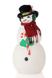 Full-Length Snowman Portrait Stock Photography