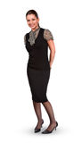 Full-length standing businesswoman Royalty Free Stock Photo