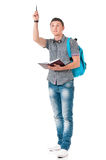 Full length student boy Stock Photography