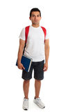 Full length student guy standing on white Royalty Free Stock Photography