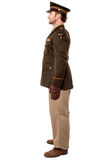 Full length studio of military personnel Stock Image