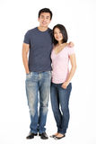 Full Length Studio Shot Of Chinese Couple Stock Image
