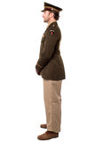 Full length studio shot of military personnel Stock Images