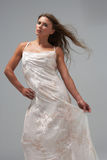 Full Length Studio Shot Of Young Woman Stock Image