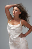 Full Length Studio Shot Of Young Woman Royalty Free Stock Images